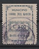 Torre Del Greco. Marca Municipale Diritti Di Urgenza L. 3.00. - Other