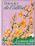 Etiquette Parfum Grasse Giraud Genêt De L'Esterel - Etiquettes