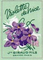 Etiquette Parfum Grasse Giraud Violette De Nice - Etichette