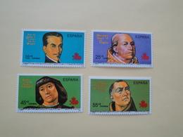 1991  Espagne  Yv 2746/9 ** Découverte De L'Amérique MNH Cote 3.50 € Michel 3011/4  Scott B198/01 SG 3126/9 - 1991-00 Nuovi