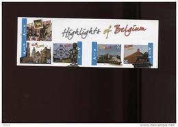 Belgie Boekje Carnet 2011 B119 Highlight Of Belgium Atomium Expo 1958 Gent Van Eyck Bastogne  Brugge 4098/4102 - Carnets 1953-....