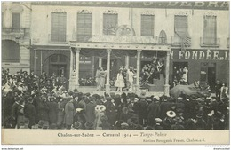 71 CHALON-SUR-SAÔNE. Carnaval De 1914. Le Tango Palace 1914   Avec Musiciens - Chalon Sur Saone