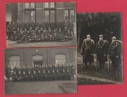 Soldats Belges ...3 Cartes Photos , Non Situées ( Voir Verso ) - Régiments