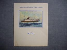 Carte MENU Illustrée ( MARIN MARIE )   De La Compagnie Des Messageries Maritimes  -  Bâteaux  -  Transport  - Restaurant - Menükarten