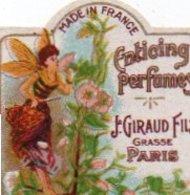 Etiquette Parfum Grasse Giraud Lot De 3 Etiquettes Enticing Perfumes Miss Flora Maflor (gaufrée) - Etichette