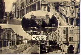 Saluti Da Torino - Formato Grande Viaggiata Mancante  Di Affrancatura – E 12 - Italie
