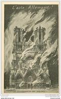 51 REIMS. La Cathédrale Acte Allemand - Reims