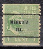 USA Precancel Vorausentwertung Preo, Bureau Illinois, Mendota 839-61 - Vereinigte Staaten