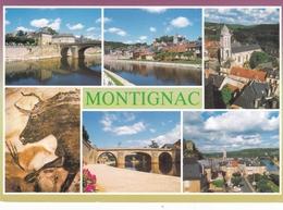 France Montignac Various Views Postcard Figeac 2005 Postmark Used Good Condition - Figeac