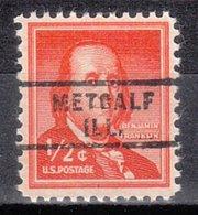 USA Precancel Vorausentwertung Preo, Locals Illinois, Metcalf 743 - Vereinigte Staaten