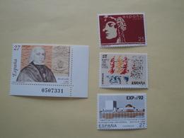 1992  Espagne  Yv 2760/2 + 2764 **  MNH Cote 2.10 € Michel 3025/7 + 3029  Sujets Divers - 1991-00 Nuovi