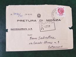 (31862) STORIA POSTALE ITALIA 1974 - 6. 1946-.. Republik
