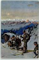 52967120 - Sign. Singer Schneeschuhlaeufer-Patrouille - Weltkrieg 1914-18