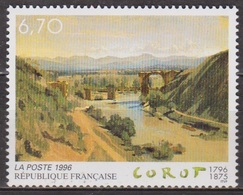 Art - Peinture - FRANCE - Jean Baptiste Corot: Le Pont De Narni - N° 2989 ** - 1996 - France