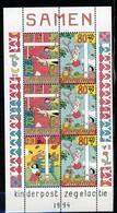 Nederland Pay Bas Olanda Netherlands 1994, Kinderzegels Child Welfare **, MNH, S/S - Periode 1980-... (Beatrix)
