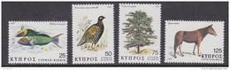 Cyprus 1979 Fauna & Flora 4v ** Mnh (42422) - Ongebruikt