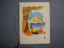 Carte MENU Illustrée ( TOLMER )  Du PROVENCE Du 16  Juillet 1958  -  Bâteaux  -  Transport  - Restaurant - Menus