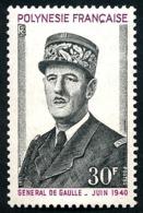 POLYNESIE 1971 - Yv. 89 ** SUP  Cote= 22,70 EUR - Général De Gaulle  ..Réf.POL23831 - Neufs