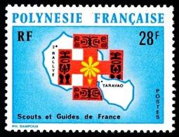 POLYNESIE 1971 - Yv. 91 ** TB  Cote= 16,30 EUR - Scouts Et Guides De France  ..Réf.POL23833 - Unused Stamps