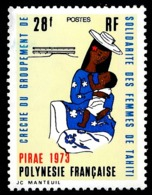 POLYNESIE 1973 - Yv. 93 NEUF   Cote= 13,30 EUR - Crèche Groupement De Solidarité Des Femmes  ..Réf.POL23838 - Unused Stamps