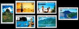 POLYNESIE 1974 - Yv. 97 98 99 100 101 102 ** TB  Cote= 20,00 EUR - Paysages (6 Val.)  ..Réf.POL23842 - Unused Stamps
