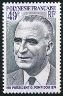 POLYNESIE 1976 - Yv. 106 ** TB  Cote= 15,00 EUR - Président G. Pompidou  ..Réf.POL23850 - Neufs