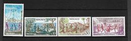 """MONACO  1973   Lot 4 Timbres  De 939 à 942   """" 50 Ans Du Comité Mational Des Traditions Monégasque """"   NEUFS - Monaco"""