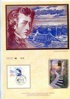 France - 1999-encart Philatélique Et Télécarte-Frédéric Chopin-tirage Limité - Documenti Della Posta