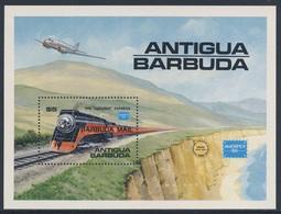 "Antigua & Barbuda 1986 B110 = Mi 948 YT B110 ** Southern Pacific ""Daylight""  Express - Ameripex '86, Chicago - Antigua En Barbuda (1981-...)"