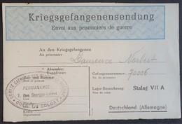 Etiquette COLIS STALAG VII A Moosburg Cachet  COMITE CAENNAIS COLIS DU SOLDAT Sept 1941 Caen Prisonnier De Guerre - Marcophilie (Lettres)