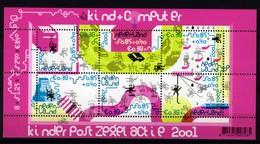 Nederland Pay Bas Olanda Netherlands 2001, Kinderzegels Child Welfare Computer **, MNH, S/S - Periode 1980-... (Beatrix)