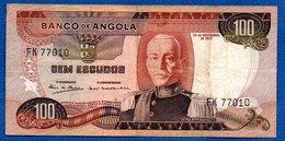 Angola  -  100 Escudos  24/11/1972  - Pick # 101  - état TB+ - Angola