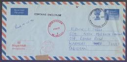 Great Britain UK GB, Postal History, Postage PAID Aerogramme Stationery Used 1.5.1990 FOREIGN SECTION BIRMINGHAM - 1952-.... (Elizabeth II)