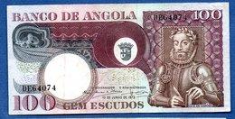 Angola  -  100 Escudos  10/6/1973  - Pick # 106  - état TTB+ - Angola