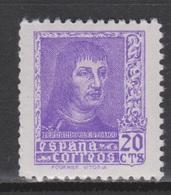 1938 FERNANDO EL CATOLICO 20 Ct. NUEVO*. 16 € - 1931-Hoy: 2ª República - ... Juan Carlos I
