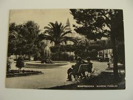 MANFREDONIA GIARDINI PUBBLICI   -   FOGGIA   PUGLIA   VIAGGIATA  COME DA FOTO  IMMAGINE  OPACA - Manfredonia