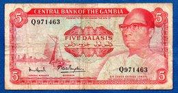 Gambie -  5 Dalasis   - Pick # 9  - état TB - Gambia
