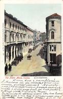 "1005 ""TORINO - VIA PIETRO MICCA""  ANIMATA, CARROZZE CON CAVALLI. CART  SPED 1900 - Italie"
