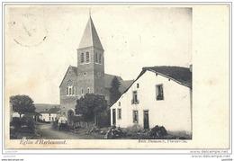 HERBEUMONT .-- L ' Eglise . 1906 Vers FOND DE GIVONNE ( Melle Marie NOEL ) . Voir Verso . - Herbeumont
