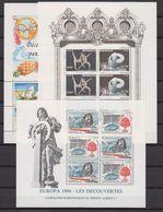 Europa Cept 1992+1993+1994 Monaco 3 M/s ** Mnh (42423) - Europa-CEPT
