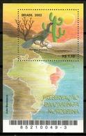 Brazil 2002 Brasil / Birds Cactus MNH Vögel Aves Oiseaux / Cu12233  34-1 - Uccelli