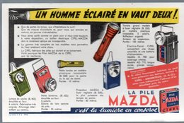Buvard  PILE MAZDA ( PPP10568) - Accumulators