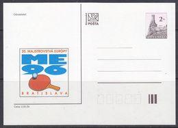 Slovakia 1996 European Championship Table Tennis Postal Stationery Unused (42424) - Europese Gedachte