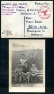 Prisoner Of War Card,1944,Camp Livingston Nach Wien, U.S. Censor, Zensurstelle Deutsches Reich, 2 Foto - Weltkrieg 1939-45