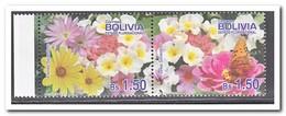 Bolivië 2010, Postfris MNH, Flowers, Butterflies - Bolivië