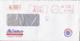 Denmark TH. ERRITZØE International Spedition Registered Einschreiben Label KASTRUP ATM (P.B. 113) 1979 Meter Cover - Poststempel - Freistempel