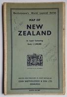 MAP OF NEW ZEALAND - BARTHOLOMEW'S WORLD LAYERED SERIE - SCARE 1:200000 - COLORIEE ET ENTOILEE - ANNEE 50 - Geographische Kaarten