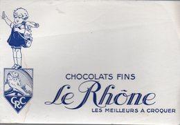 Buvard  Chocolat LE RHONE  (PPP10573) - Cocoa & Chocolat