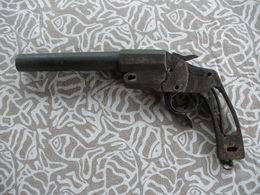 WW1 PISTOLET LANCE FUSEE HEBEL ALLEMAND DANS SON JUS - Decorative Weapons