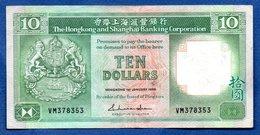 Hong Kong -  10 Dollars      - état TTB - Hong Kong